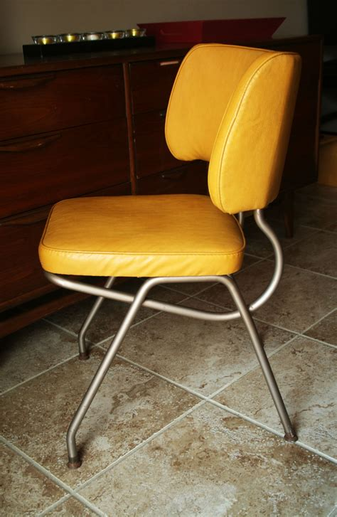 retro yellow vinyl kitchen desk chair by brody by