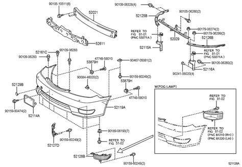 Toyota Of Parts 2000 Toyota 4runner Front Bumper Parts Diagram 2000 Free