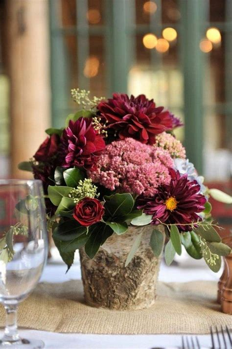 rustic floral centerpieces 20 rustic wedding centerpieces with bark container