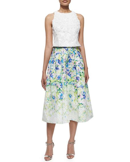 Floral A Line Midi Skirt phoebe couture floral print a line midi skirt