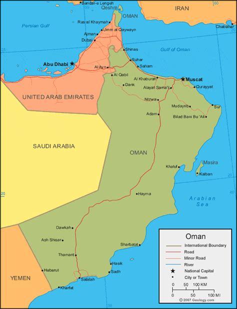 oman map  satellite image