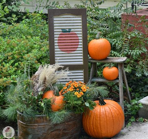 Decorations Outdoor Diy by Fall Front Porch Decorating Hoosier
