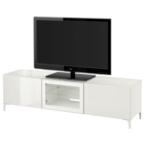 white gloss tv bench best 197 tv bench with doors white selsviken high gloss white