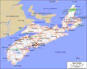 maps scotia canada map of roads of scotia maps of canada provinces and