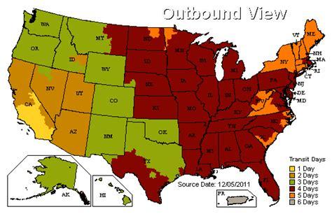 ups maps ups fed ex ground shipping maps