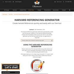 harvard bibliography generator publishing szindros pearltrees