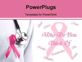 best powerpoint template pink ribbon remember breast