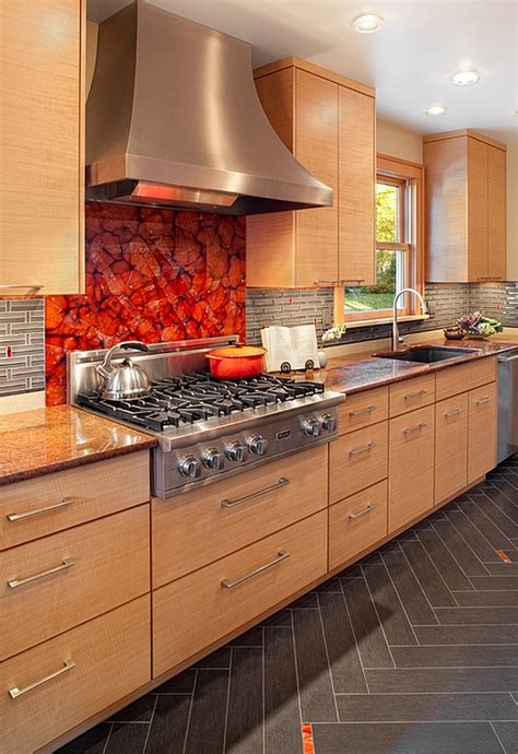custom glass backsplash kitchen backsplash ideas a splattering of the most