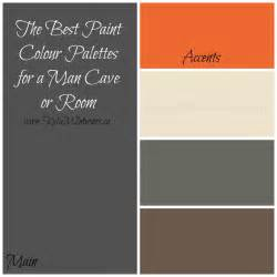 colors that go with manchester cave paint palette with a pool table using black gray