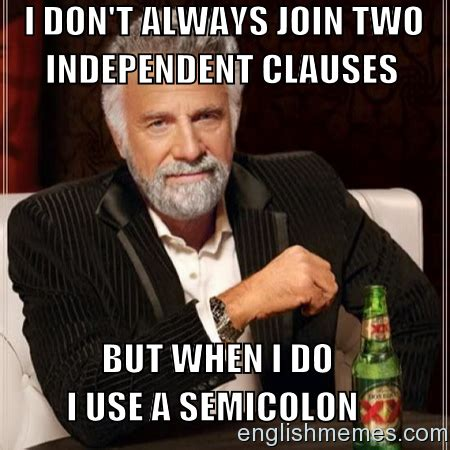 English Meme - semicolons english memes pinterest english memes