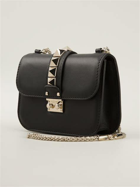 8103 Black Shoulder Bag lyst valentino medium rockstud shoulder bag in black