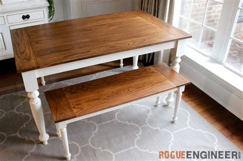 farmhouse oak dining table diy solid oak farmhouse table free easy plans