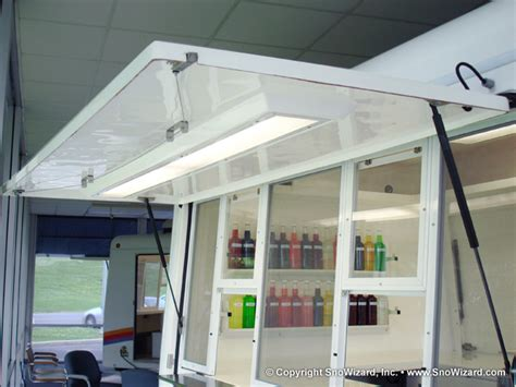 concession trailer awnings snoball trailer features snowizard inc