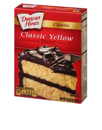 classic yellow cake mix duncan hines 174