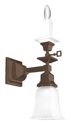 Electric Candle Wall Sconce by Vintage Hardware Lighting Mission Style Single Arm