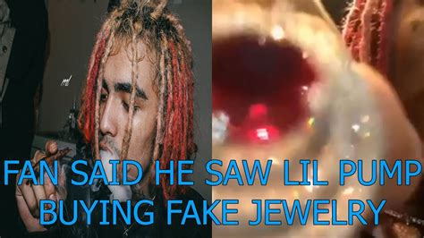 lil pump necklace fan said he saw lil pump buying fake jewelry youtube