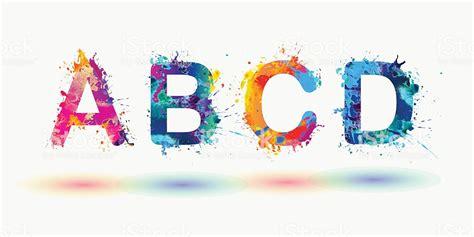 bright alphabet letters a b c d stock vector more