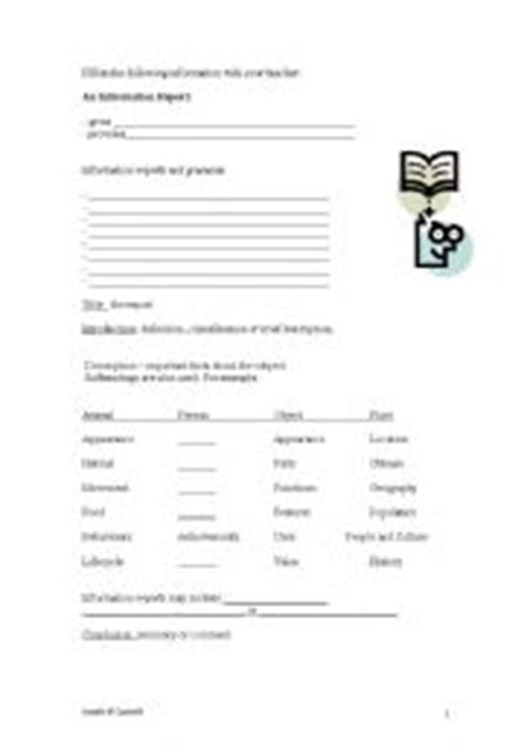 information report template for primary students writing information reports for primary students a to z stuff report writing in