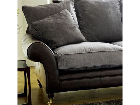the range leather sofas 1000 images about mixing leather and fabric on