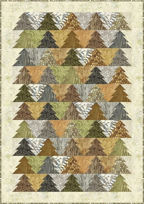 christmas tree grove pattern tessellating trees woodland trees quilt pattern by patti