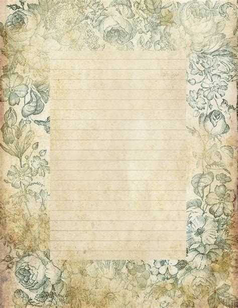 printable vintage stationery lilac lavender quot antiqued quot lined paper stationery