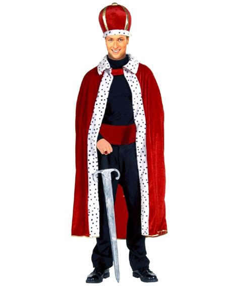 costume robe king robe and crown set costume king