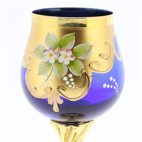 murano glass goblets set of two murano glass wine