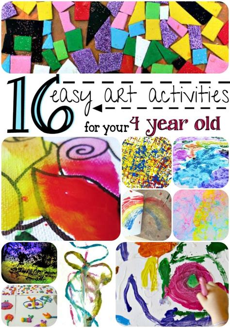 arts and crafts ideas for 4 years old chrismas card your child will these 16 easy activities for your 4 year these colorful ideas