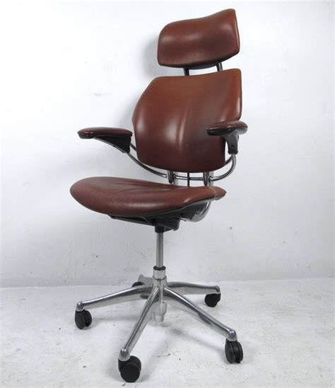 Leather Swivel Desk Chair by Midcentury Style Ergonomic Leather Swivel Desk Chair At 1stdibs