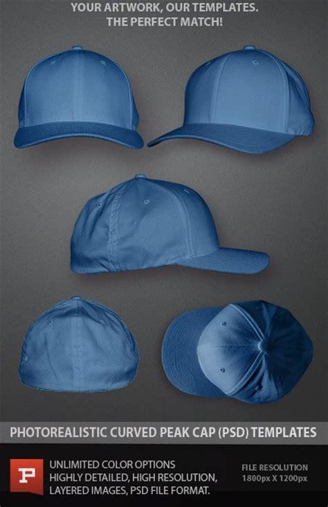 photoshop template hat flexfit curved peak cap template photoshop psd