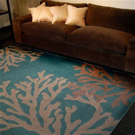 coral and teal rugs lanart coral teal polyester 5 ft x 7 ft 6 in area rug coral5x8te the home depot