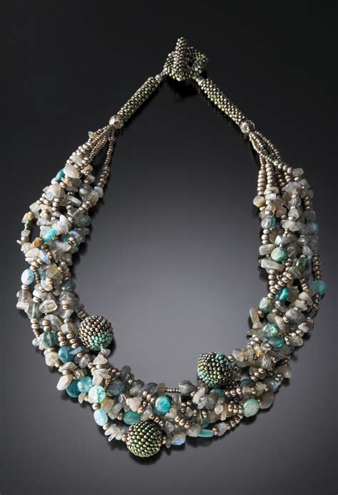 multi strand beaded bead necklace julie powell design