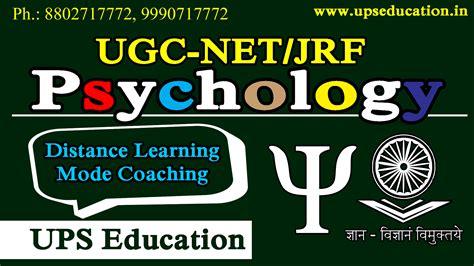 pattern of ugc net jrf net psychology epsychology