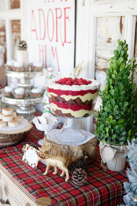 christmas themed baking modern vintage christmas themed party