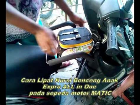 Kursi Bonceng Anak All In One cara pasang kursi bonceng anak expro all in one komplit
