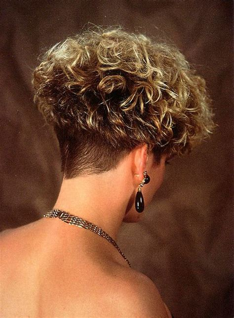 shaved wedge haircuts curly wedge pinteres