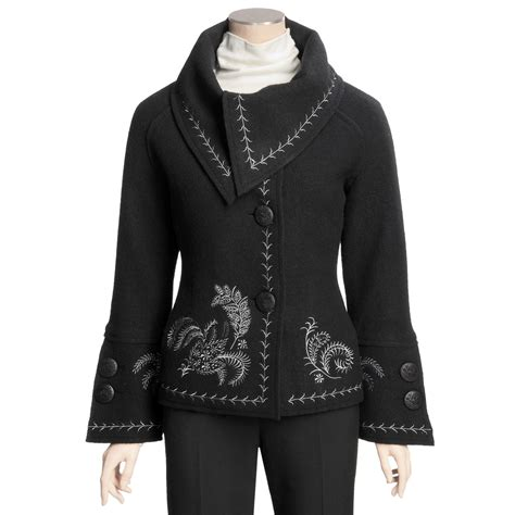 design an embroidered jacket icelandic design nuance embroidered jacket for women