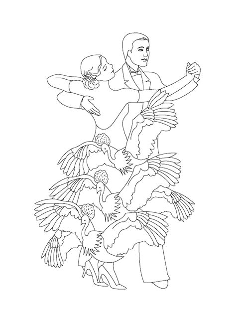 flamenco girl coloring page coloring home