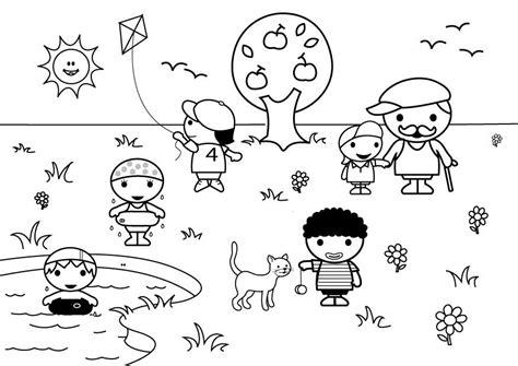 imagenes para colorear verano dibujos del verano para colorear pintar e imprimir