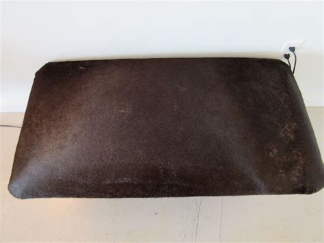upholstered bench cushions antler bench with hide upholstered cushion benches
