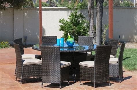 Builddirect Patio Furniture Kontiki Dining Sets Wicker Large Ideal For 8 Or More Seats Monte