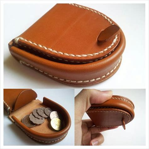 Handmade Leather Coin Purse - handmade hoof style leather coin purse bag box