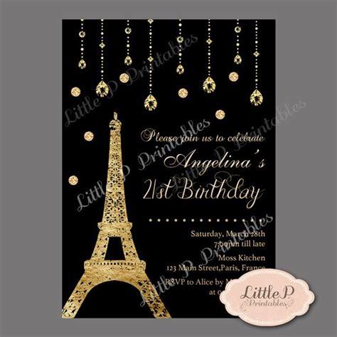 eiffel tower birthday invitations eiffel tower 21st birthday invitation sweet 16 birthday