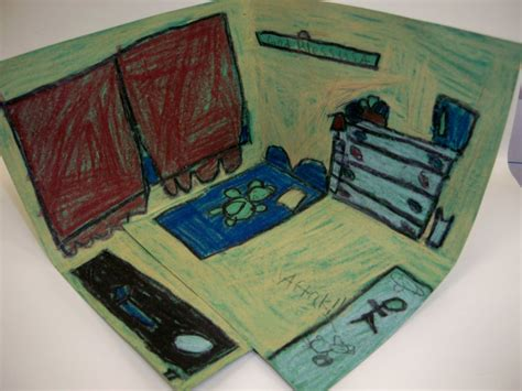 Gogh Bedroom Lesson Plan Gogh Inspired Bedroom The Crafty
