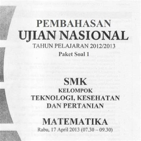 Matematika Untuk Pariwisata Smk Jl2 Ktsp soal dan pembahasan un matematika smk 2013 soalujian net