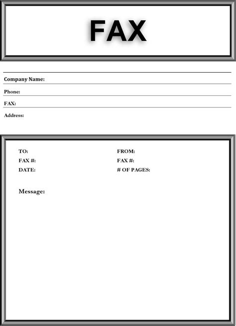 basic fax cover sheet download free amp premium templates