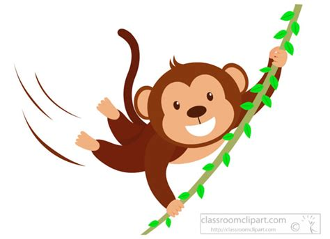 clipart of monkeys monkey clipart clipart monkey character swinging