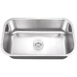 Single Basin Stainless Steel Kitchen Sink Shop Superior Sinks 18 In X 30 In Satin Brush Stainless Steel Single Basin Undermount