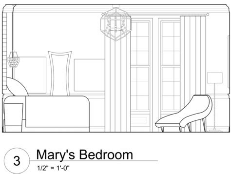 Living Room Hike Elevation Autocad Process Work Design By