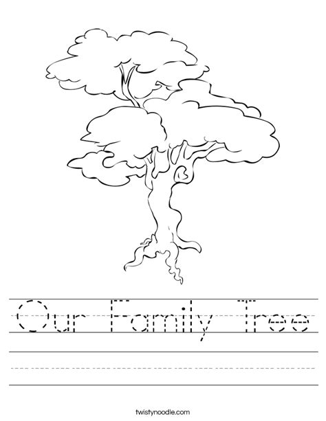 Family Tree Worksheet by Family Tree Template Family Tree Printable Worksheet